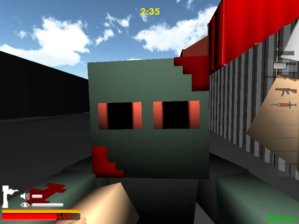 майнкрафт зомби блоки с читами #5