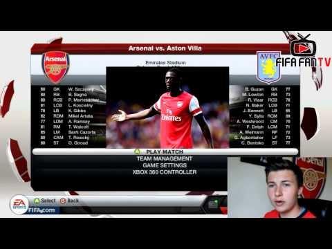 FIFA FANTV Promo - Arsenal V Aston Villa Career Mode - ArsenalFanTV.com