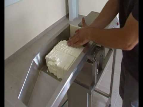 SQUARE CUTTING OF FETA CHEESE