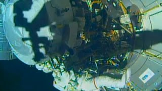 Timelapse ISS 48 US Spacewalk 36 - Williams and Rubins install International Docking Adapter x16