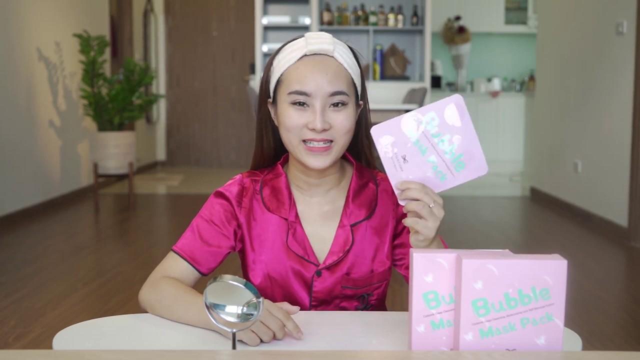 Review Mặt nạ thải chì Rivecowe Bubble Mask – Hàn Quốc