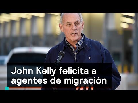 John Kelly felicita agentes de migración - Migrantes - Denise Maerker 10 en punto