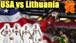 FIBA 2K12 - USA vs LITHUANIA - Men