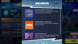 *LEGENDARY* AND *EPIC* BURST RIFLE COMING TO FORTNITE BATTLE ROYALE