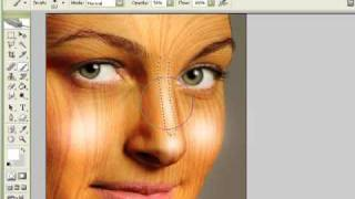 Photoshop - Wood Texture Over Skin (4-4)