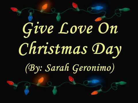 Give Love On Christmas Day (Sarah Geronimo) - YouTube
