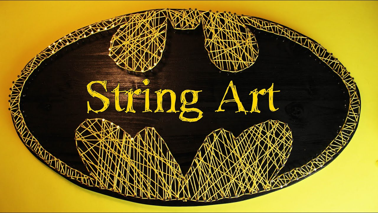 Fadenbild Batman | String Art - YouTube