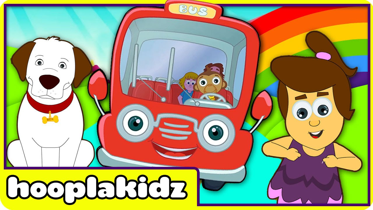 Wheels On The Bus Go Round And Por Nursery Rhymes By Hooplakidz You