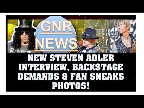 Guns N' Roses News:Steven Adler Interview With Jay Mohr, GNR's Singapore Backstage Demands & More!