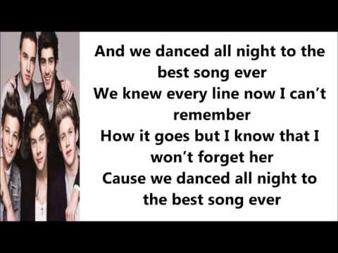 Best Song Ever - One Direction ( Lyrics + Pictures )