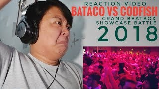 REACTION | BATACO vs CODFISH | Grand Beatbox SHOWCASE Battle 2018 | SEMI FINAL