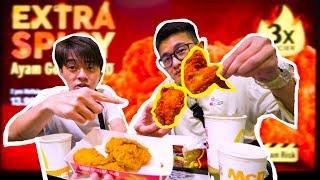 麦当劳超级隐藏菜单!!!3倍辣的AYAM GORENG!!!不是每个人有机会吃到的!3X Extra Spicy Ayam Goreng McD~ft. Madison