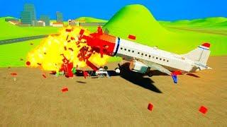 Lego Airplane Accident Vs Propane !!! Brick Rigs