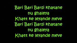 Punjabi Mc - Bari Barsi Lyrics