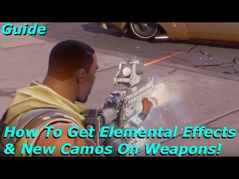 Fortnite - How To Get Elemental Effects & New Camos On Weapons Guide