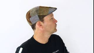Hats & Co. Oliver Ivy Cap Brown Patch Hat Display - Hats By The 100