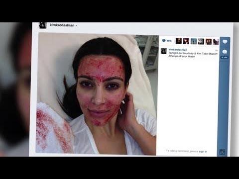 Kim Kardashian se fait un masque au sang et la famille de