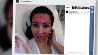kim kardashian se fait un masque au sang et la famille de kris humphries traite leur mariage d impos