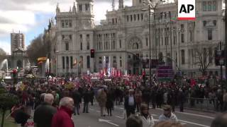 Thousands on the streets to protest against unemployment and austerity