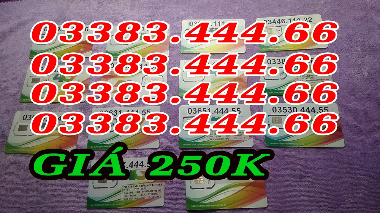 Sim số đẹp Viettel,  kép tiếp giá không đâu rẻ bằng Hotline  0822.077.888