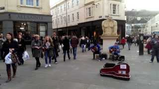 the showhawk duo playing southgate shopping centre in bath bohemian rhapsody