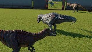 Team Sucho VS Team Giga and Team Bary VS Team Cerato (Team Fights) - Jurassic World Evolution