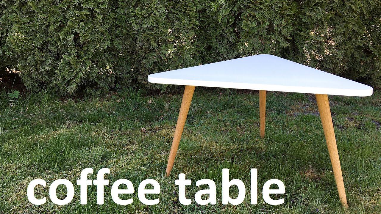 modern triangle coffee table diy