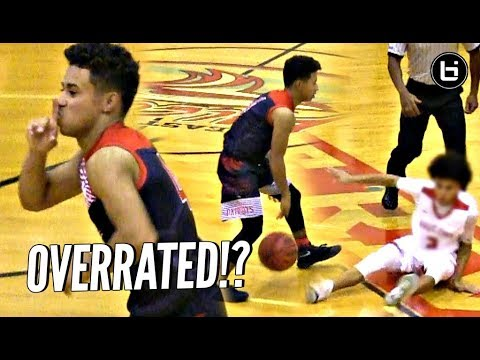 Julian Newman SHUTS UP OVERRATED CHANTS w/ 34 Points & 9 THREES! SHUSHES CROWD!!