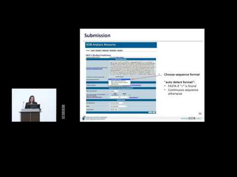 Immune Epitope Database (IEDB) 2015 User Workshop - MHC clas