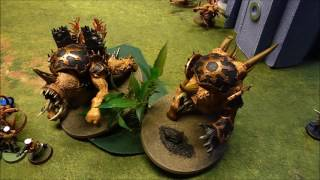 Warhammer 40k 1500pts 7th Ed. Battle Report - Modian Iron Guard Vs Chaos Spawn Star