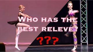 Dancers ranked based on their relevés// Dance Moms