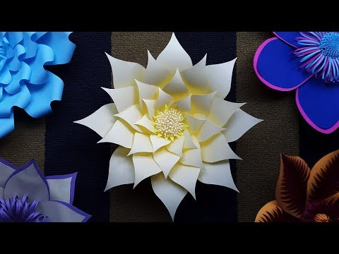 DIY Paper Flower Backdrop Tutorial with Free Template | Wedding Paper Flowers