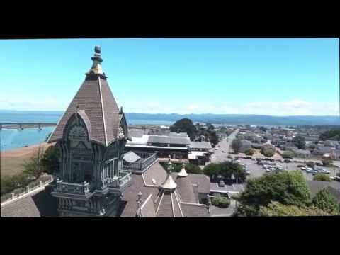 AERIAL VIEW OF EUREKA, CA 4K
