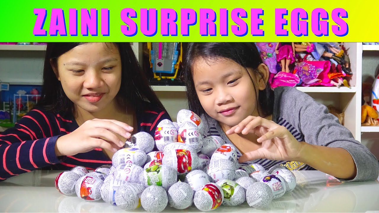 Disney Surprise Eggs: Big Hero 6, Inside Out, Cars 2, Monsters University Zaini Surprise Eggs