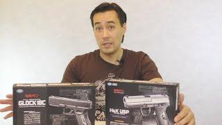 обзор страйкбольных электро-пистолетов от Tokyo Marui Glock 18C и HK USP AEP