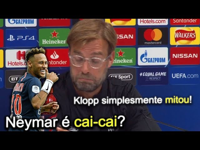 Jornalista foi dizer que Neymar é cai-cai para Klopp e teve resposta inesperada