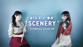BTS .V - Scenery /inst. (classic ver.) -힐링 - 연주 Violin & Flute COVER by 2COLOR /바이올린커버 , 플루트커버 , BGM