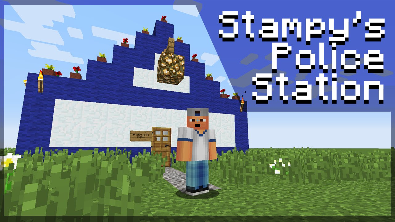 How to build Stampy's Police Station - Minecraft Tutorial