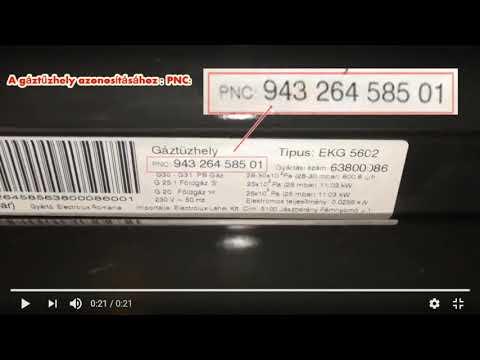 Electrolux gáztűzhely adattáblája EKG5602 GAS GRILL