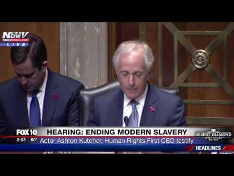 FNN: Ashton Kutcher Testifies - FULL HEARING - Senate Foreign Relations Cmte on Human Trafficking