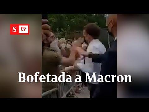Así abofetearon al presidente de Francia, Emmanuel Macron, en un acto público   Videos Semana