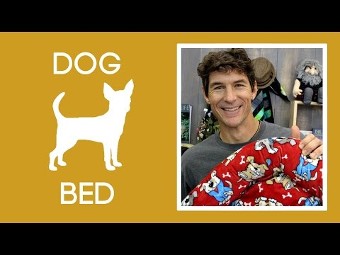 Make A Cozy Dog Bed With Shannon Cuddle Fabric