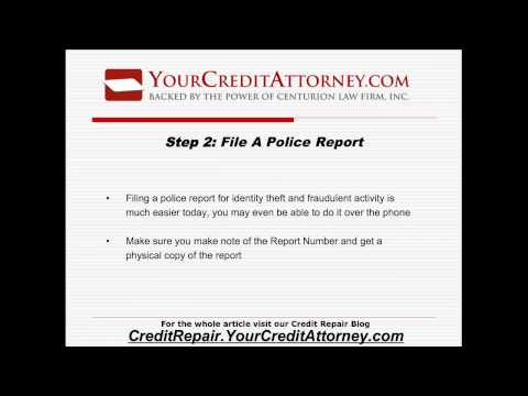 Improve Credit Score - After Identity Theft