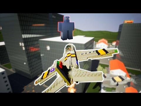 Brick Rigs Game | GOLEM ATTACKS CITY! AIRPLANE DEFENSE! | Lets Play Brick Rigs Gameplay & Highlights