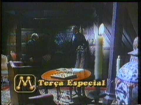 """Inserção de caracteres da """"Terça Especial"""" durante exibição de filme. Tv Manchete, 1995."""