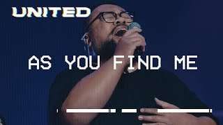 Cover images As You Find Me (Live) - Hillsong UNITED