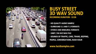 Street Traffic, Rush Hour, City Noise Sound Effect