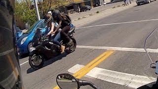 Two Girls, One Bike.