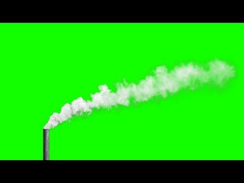 Футаж дыма из бетонной трубы