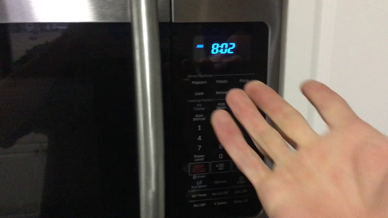 how to reset the filter light on your samsung microwave super easy
